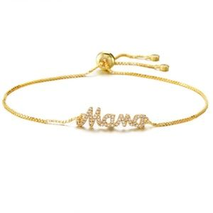 NWT Gold Mama Cubic Zirconia Adjustable Bracelet